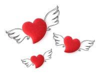 Coeurs d'ange sur le fond d'isolement Photographie stock libre de droits