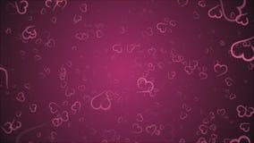 Coeurs d'animation, aucun texte, carte de voeux clips vidéos