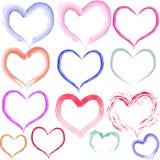 Coeurs d'Aquarell Photographie stock
