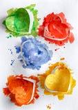 Coeurs d'aquarelle sur le fond blanc Image stock