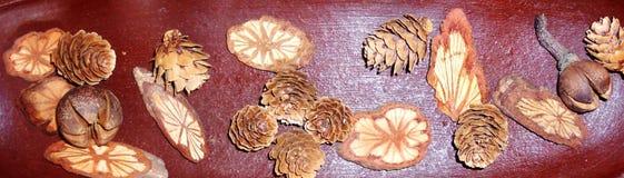 coeurs d'arbre et ananas de Noël image stock