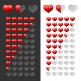 Coeurs d'estimation réglés Photos stock