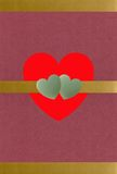 Coeurs d'or et de jade texturisés Photos libres de droits