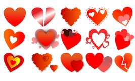 Coeurs d'icônes illustration stock