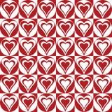 Coeurs dans Circles_Red-White Image libre de droits