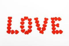 Coeurs dans l'amour Photo libre de droits