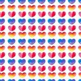 Coeurs dans l'aquarelle Photos libres de droits