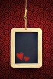 Coeurs dans l'ardoise photographie stock