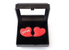 Coeurs dans la boîte noire Image libre de droits
