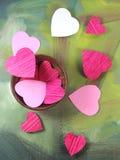 Coeurs dans la cuvette photographie stock libre de droits