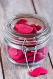 Coeurs dans le pot Image stock