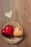 Coeurs dans un panier Image libre de droits