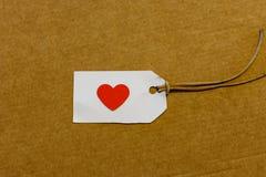 Coeurs dans une étiquette en détail Images libres de droits