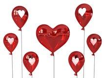 Coeurs de ballon illustration de vecteur