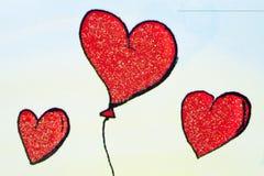 Coeurs de Baloon Photographie stock libre de droits