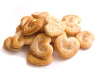 Coeurs de biscuits Photo stock