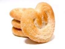 Coeurs de biscuits Photos libres de droits
