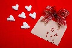 Coeurs de blanc de valentines Photographie stock