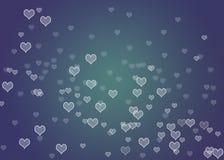 Coeurs de Bokeh Photographie stock libre de droits