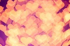 Coeurs de Bokeh Photo libre de droits
