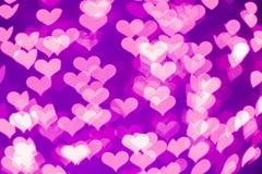 Coeurs de Bokeh Image libre de droits