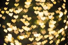 Coeurs de Bokeh Image stock