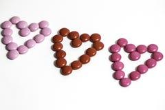 Coeurs de bonbons au chocolat Image stock