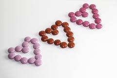 Coeurs de bonbons au chocolat Photographie stock libre de droits