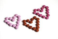 Coeurs de bonbons au chocolat Photographie stock