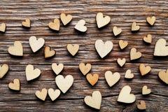 Coeurs de Brown Image stock