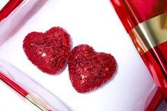 Coeurs de cadeau Image stock