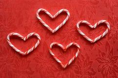 Coeurs de canne de sucrerie Photo libre de droits