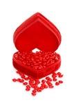 Coeurs de cannelle dans un cadre rouge de coeur Photo libre de droits