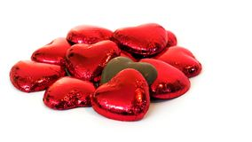 Coeurs de chocolat Photo libre de droits