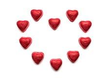 Coeurs de chocolat Photographie stock