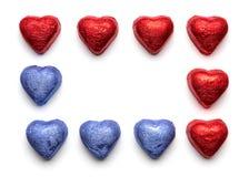 Coeurs de chocolat Images libres de droits