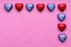 Coeurs de chocolat Photos stock