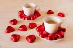 Coeurs de chocolat Image stock