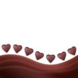 coeurs de chocolat de fond illustration de vecteur
