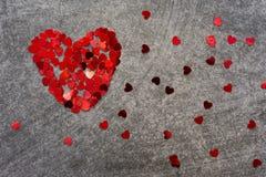 Coeurs de confettis Image libre de droits