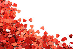coeurs de confettis rouges Photos stock