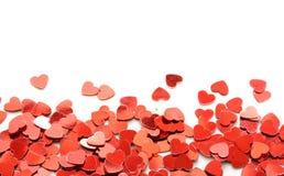 coeurs de confettis rouges Image libre de droits