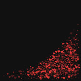 coeurs de confettis rouges Photographie stock libre de droits