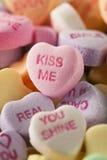 Coeurs de conversation de sucrerie pour la Saint-Valentin Image libre de droits