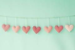Coeurs de coton Photos libres de droits