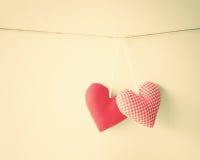 Coeurs de coton Images libres de droits