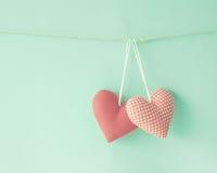 Coeurs de coton Photographie stock