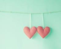 Coeurs de coton Photographie stock libre de droits