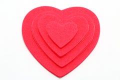 Coeurs de couche Photographie stock