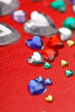 Coeurs de couleur Image stock